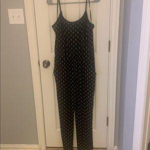 Black patterned jumpsuit!